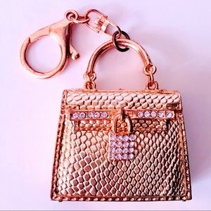 Jewelry - NEW! LARGE GOLD & CRYSTAL HANDBAG PURSE CHARM